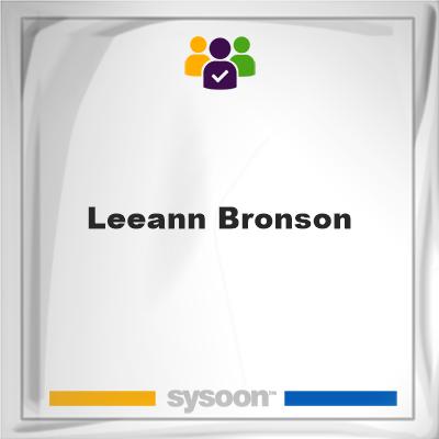 Leeann Bronson, member, cemetery
