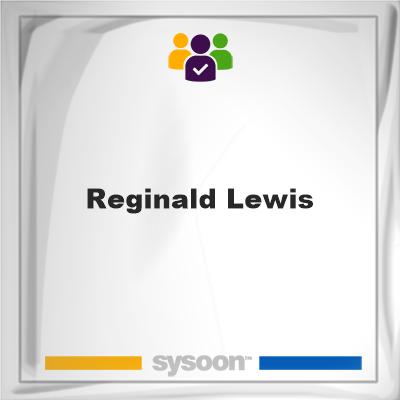 Reginald Lewis, member, cemetery